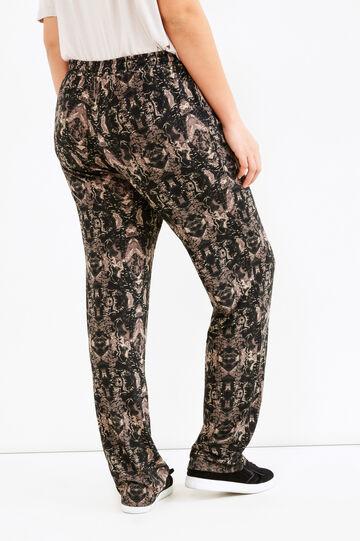 Pantaloni fantasia a contrasto Curvy, Multicolor, hi-res