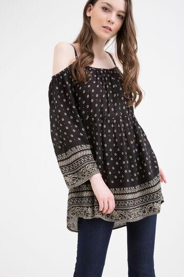 100% viscose dress with print