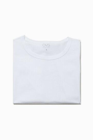 Camiseta interior con cuello redondo, Blanco óptico, hi-res