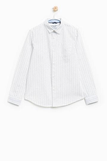 Camisa en algodón 100% con estampado por todo