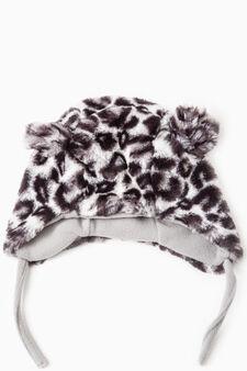 Animal beanie cap, Grey, hi-res