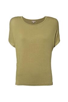 Smart Basic stretch viscose T-shirt, Green, hi-res