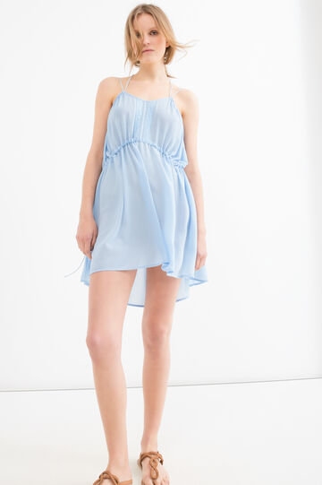 Solid colour short dress, Light Blue, hi-res