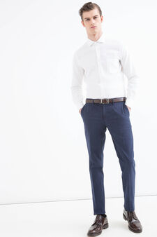 Rumford cotton trousers., Blue, hi-res