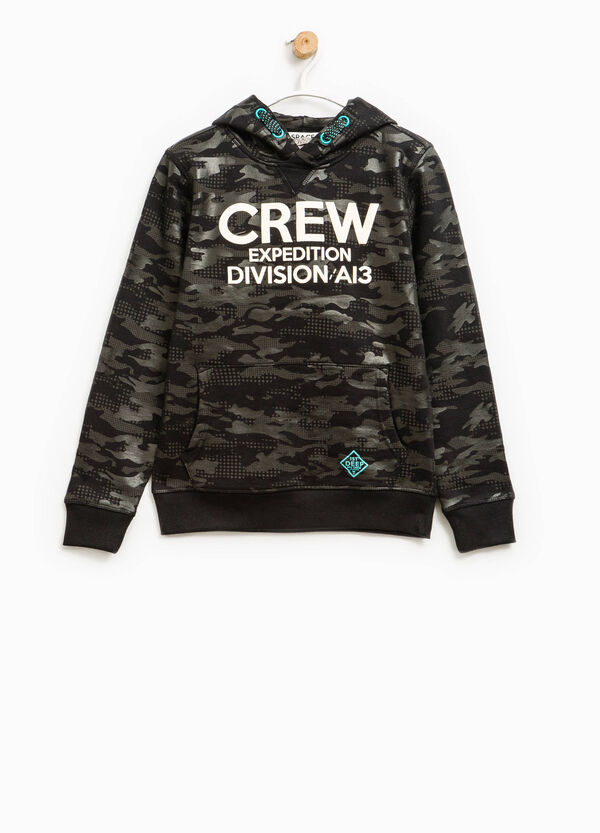 All-over camouflage print sweatshirt | OVS