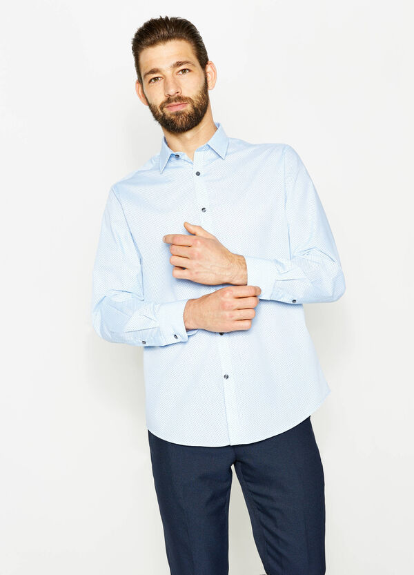 Regular-fit formal shirt with polka dot pattern | OVS