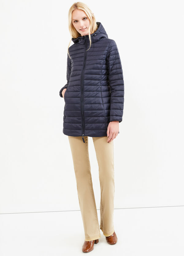Down jacket with high neck and hood | OVS