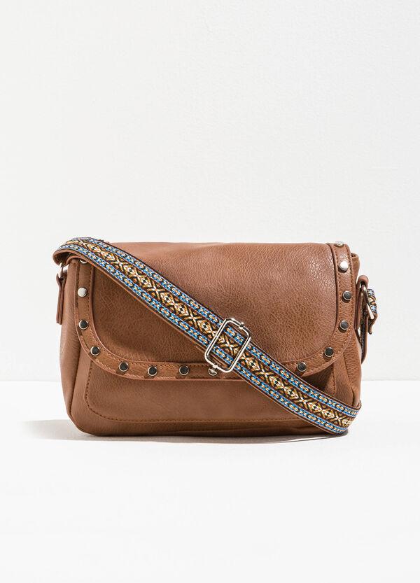 Patterned shoulder bag with studs | OVS