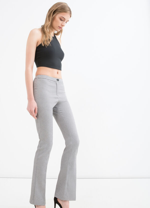Checked stretch trousers | OVS