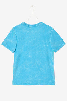 Marble-effect T-shirt., Turquoise Blue, hi-res