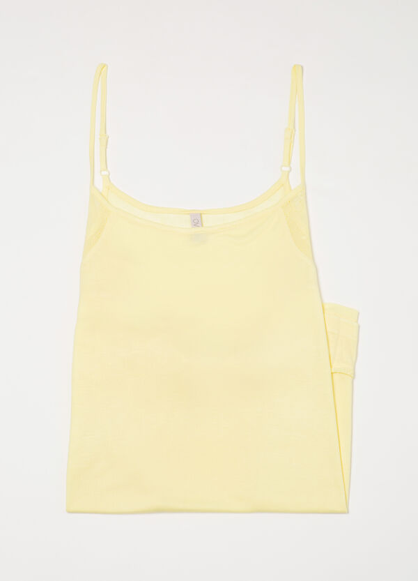 Viscose nightdress with straps | OVS