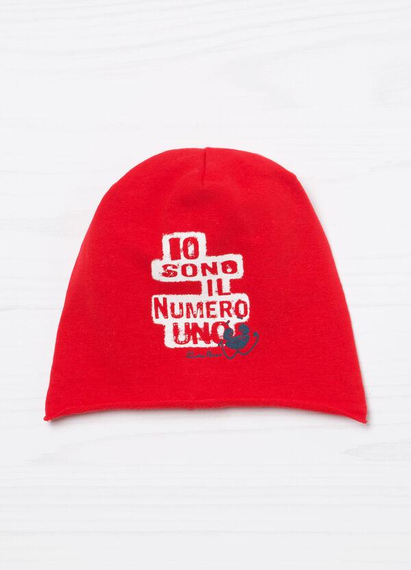 Cappello a cuffia cotone stampa | OVS