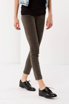 Cotton trousers, Sage Green, hi-res