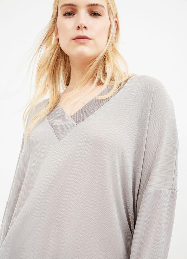 T-shirt pura viscosa scollo a V Curvy | OVS