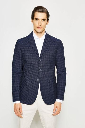 Rumford patterned linen jacket