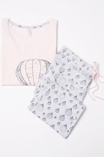 100% cotton printed pyjamas, Light Pink, hi-res