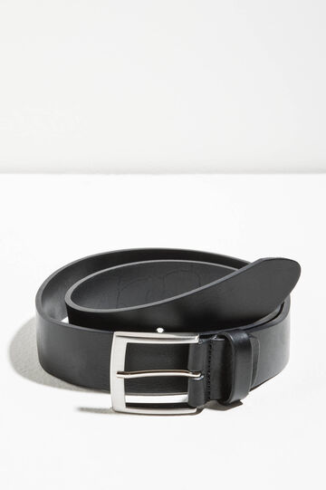 Genuine leather hammered belt, Black, hi-res