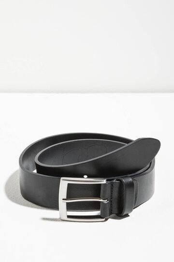 Cinturón 100% piel martillada, Negro, hi-res