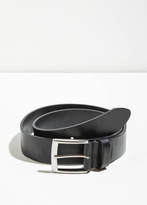 Genuine leather hammered belt | OVS