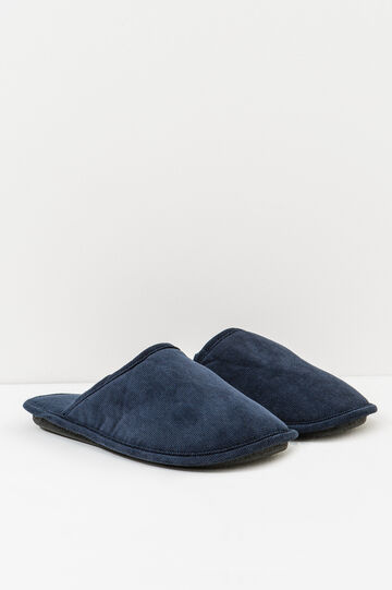 Slippers with rubber sole, Navy Blue, hi-res