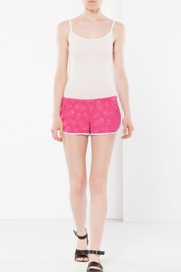 Patterned shorts, Fuchsia, hi-res