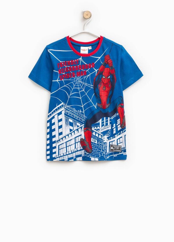 T-shirt with round neck and maxi Spiderman print | OVS