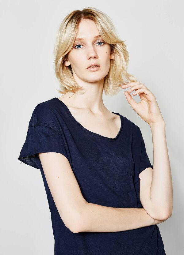 T-shirt in puro cotone taglio al vivo | OVS