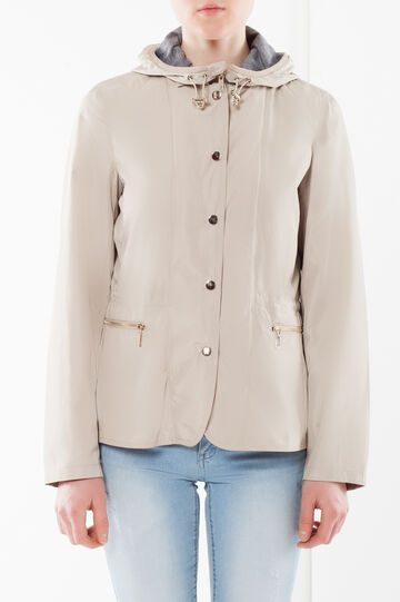 Removable hood jacket, Beige, hi-res