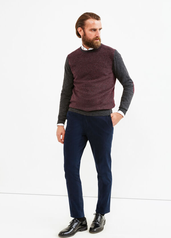 Cashmere blend Rumford pullover with pattern | OVS
