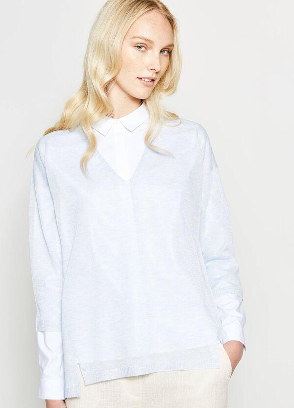 Pullover in rayon con scollo a V | OVS