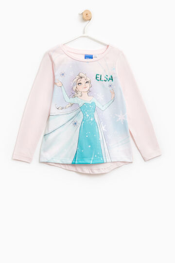 T-shirt with maxi Frozen print, Light Pink, hi-res