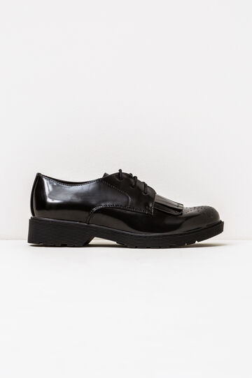 Brogues with glossy uppers, Black, hi-res