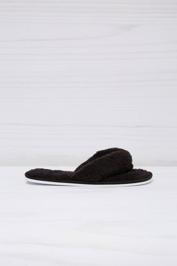 Terry thong slippers, Black, hi-res