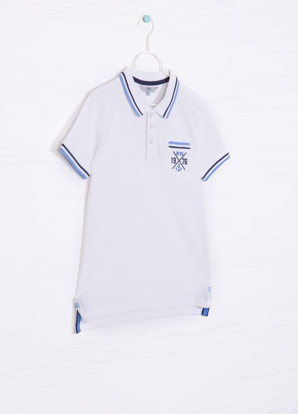 100% cotton polo shirt with pocket | OVS