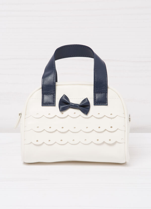 Leather look bag with bow | OVS