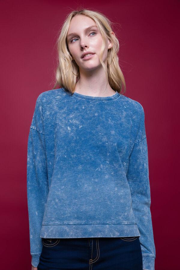 Sudadera en algodón 100% con efecto teñido desigual | OVS