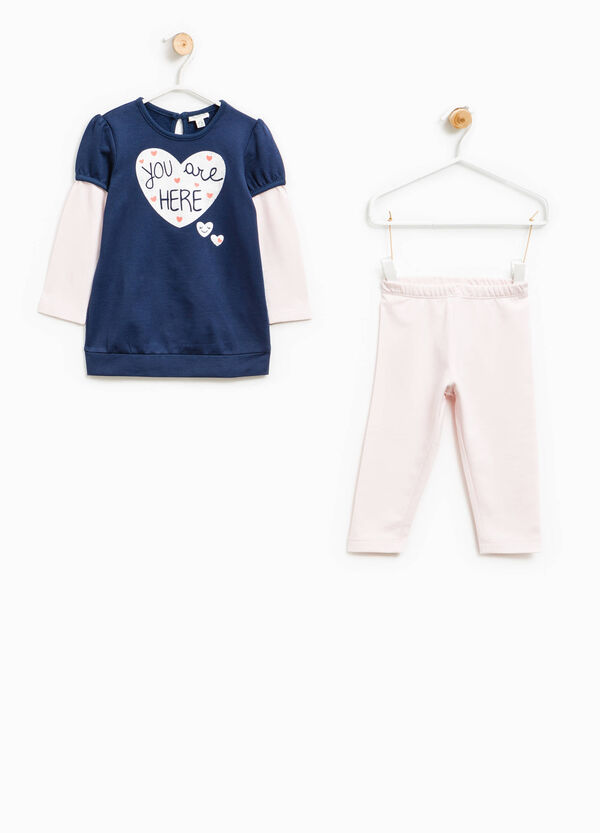 T-shirt and trousers outfit | OVS