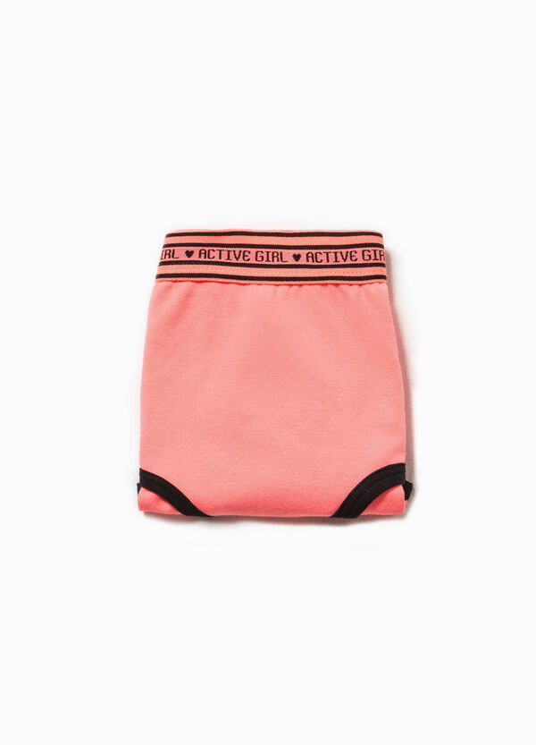 Cotton French knickers with lettering embroidery | OVS