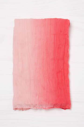 Creased effect faded scarf, Coral Pink, hi-res