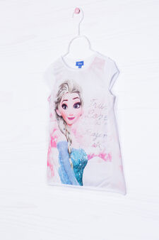 T-shirt with Frozen print and diamantés, White/Pink, hi-res
