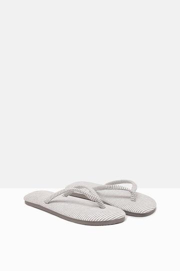 Striped pattern thong sandals, Light Grey, hi-res