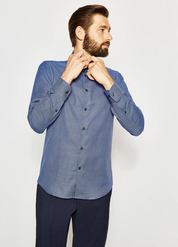 Camisa formal slim fit con estampado pequeño | OVS