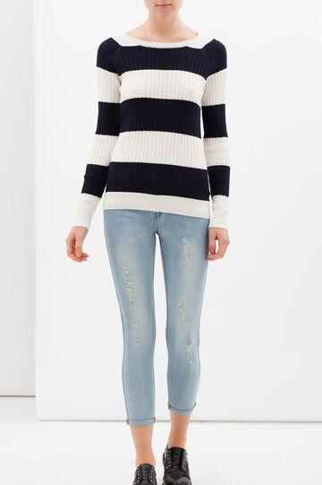 Jeans skinny effetto used, Lavaggio chiaro, hi-res