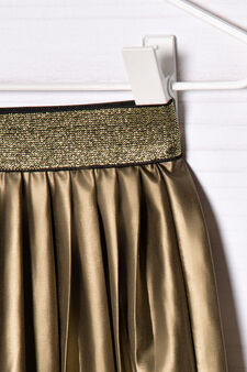 Stretch pleated skirt, Golden Yellow, hi-res