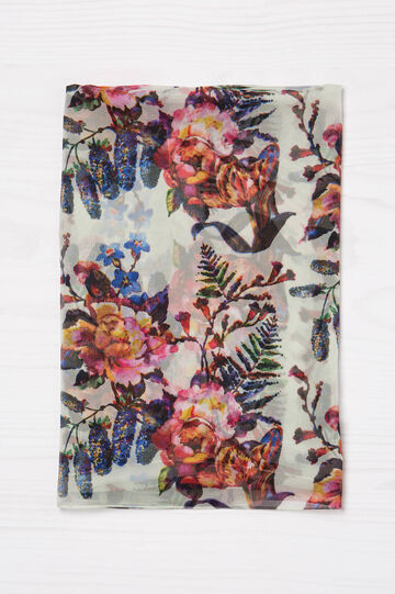 Floral print viscose scarf