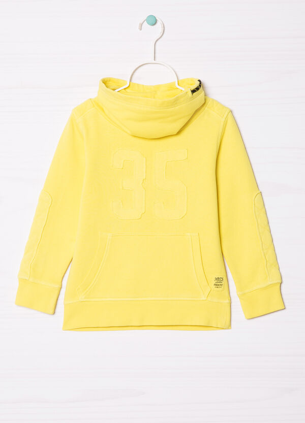 Cotton sweatshirt with high neck. | OVS