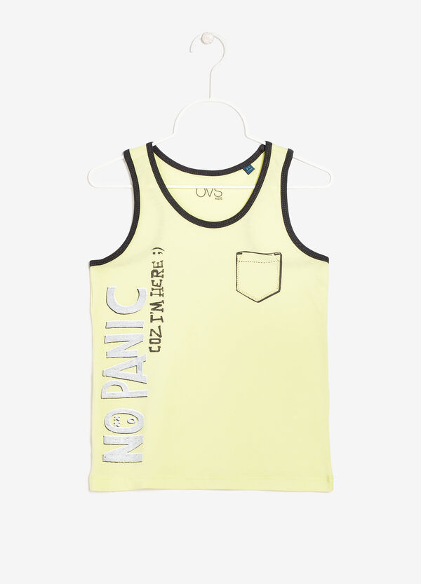 Tank top with contrast color edges | OVS