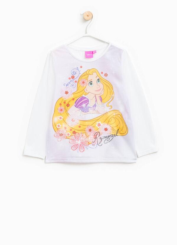 Camiseta en algodón elástico con estampado de Rapunzel | OVS