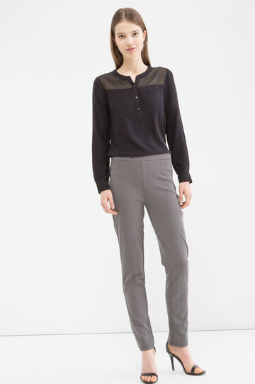 Stretch patterned trousers