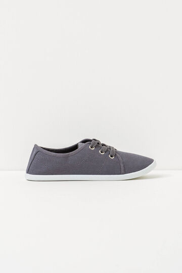Solid colour sneakers with laces, Light Grey, hi-res